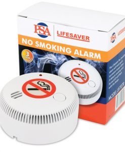The LIF707R is a 9VDC battery powered highly sensitive cigarette, cigar and pipe smoke alarm using photoelectric technology.