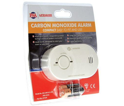 A carbon monoxide alarm providing continuous monitoring of CO levels and protection against dangers of carbon monoxide.