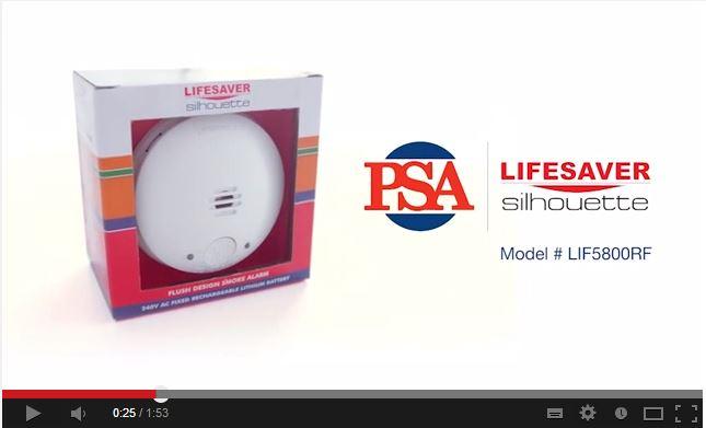 LIFESAVER LIF5800RF Silhouette Smoke Alarm