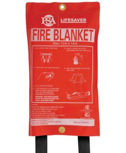 Fire blankets made from woven fibre glass material ideal for kitchens, cars, caravans, workshops and boats.