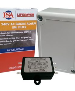 The LIFEMI1 is a smoke alarm EMI filter ideal for high levels of EMI that cause the smoke alarm to false alarm.