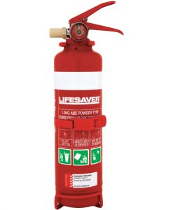 The LIFFX100 1.0kg dry powder fire extinguisher is suitable for use on Class A, B & E fires.