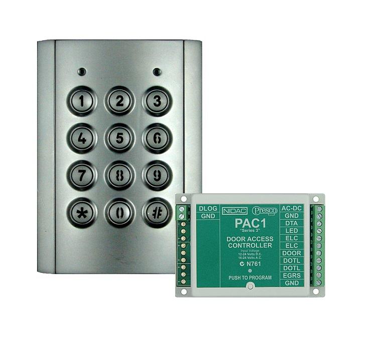 Presco Kit 3 Single Door Access Kit With Vandal