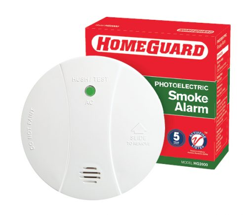 The HG2000 is a photoelectric mains powered smoke alarm with a 9VDC alkaline battery back up.