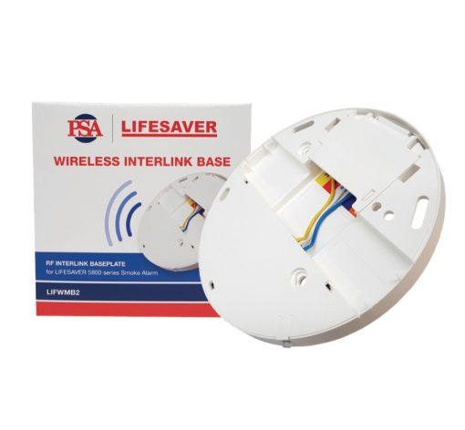Wireless interconnect base to suit Lifesaver LIF5800/2 and LIF5800RL/2 smoke alarms.